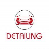 Vector Logo For Detailing Car And Tuning poster