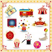 foto of circus clown  - Funny circus icons - JPG