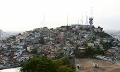stock photo of guayaquil  - One of the hills covered in homes in the city of Guayaquil Ecuador - JPG