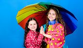 Happy Childhood. Bright Umbrella. It Is Easier To Be Happy Together. Be Rainbow In Someones Cloud. W poster