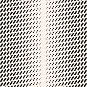 Vector Abstract Geometric Halftone Seamless Pattern With Diagonal Dash Lines, Fading Stripes. Extrem poster