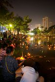 Loi Krathong Bangkok Lake Lights