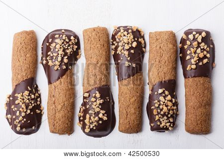 Chocolate And Hazelnut Cookie Sticks