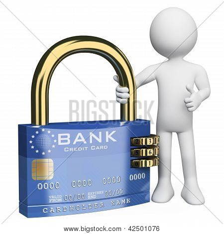 3D White People. Secure Credit Card