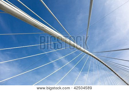 Zubizuri Bridge, Bilbao, Bizkaia, Basque Country, Spain