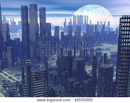 Futuristic City - 3D Render