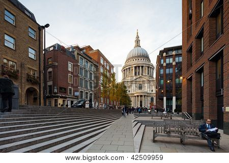 View Of The St Paul's Cathedral, London, Uk