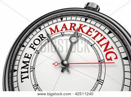 Time For Marketing Concept Clock