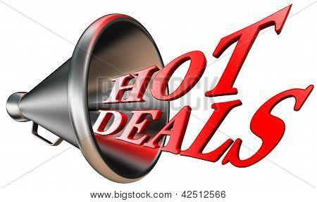 Hot Deals Red Word In Megaphone