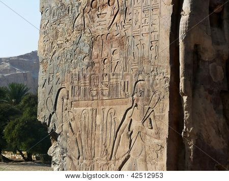 Carvings on the Colossi of Memnon