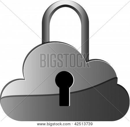 Daten-Wolke-Sicherheit/Vorhängeschloss-symbol