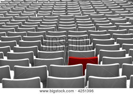 Red Stadium Seat