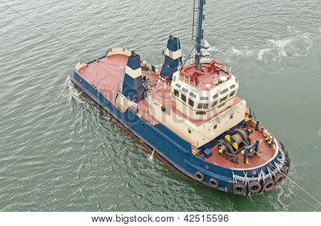 A Tugboat In Action