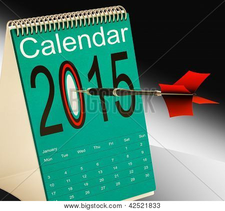 2015 Schedule Calendar Shows Two Thosand Fifteen