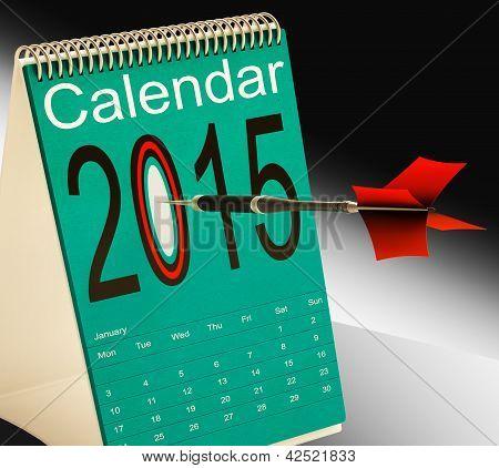 2015 Schedule Calendar Shows Two Thosand Fifteen