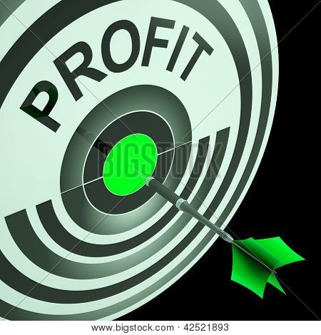 Profit Means Financial Success And Earning Revenue