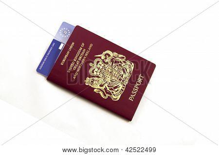 British Passport With E111 EHIC