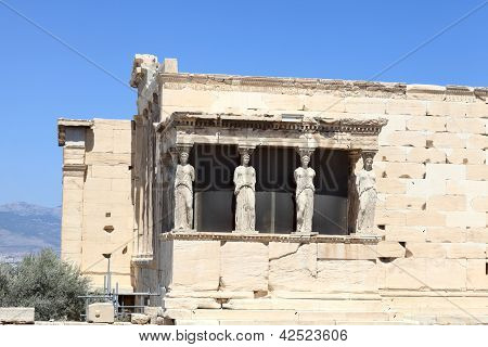 Details Of Erechtheum Greek Temple