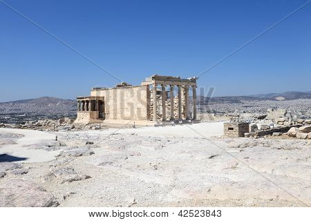 View Of Erechtheum Greek Temple