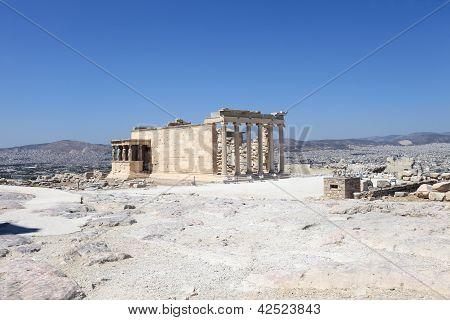 View Of Erechtheum Greek Temple