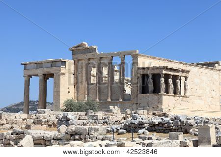 View Of Erechtheum Temple