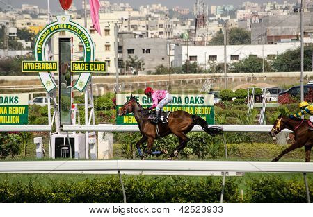 Horse winning at Hyderabad