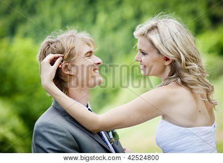 Schöne Hochzeitspaar