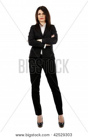Full Length Pose Of Young Businesswoman