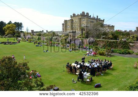 A brass band playing in the gardens of Culzean Castle