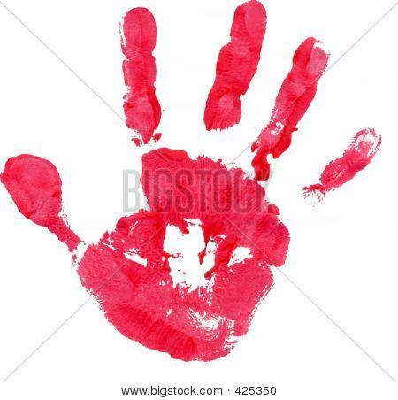 Handprint rojo