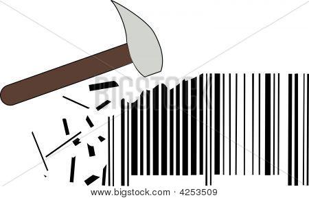 Hammer Smashing Barcode