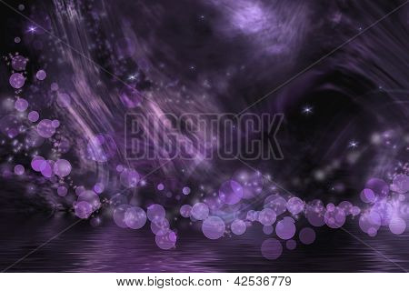 Abstract Fantasy In Purple Color