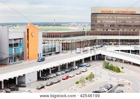 MOSCOW - SEPTEMBER 22: Parking in Sheremetyevo Airport on September 22, 2011 in Moscow, Russia. Sheremetyevo International Airport is one of twenty largest airports in Europe.