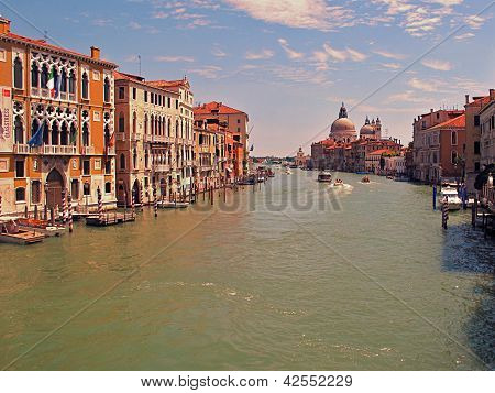 Grand Canal and Santa Maria della Salute, Venice