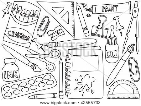 Imagenes Infantiles Para Colorear Utiles Escolares Imagui