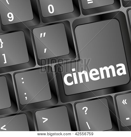 Cinema Sign Button On Keyboard