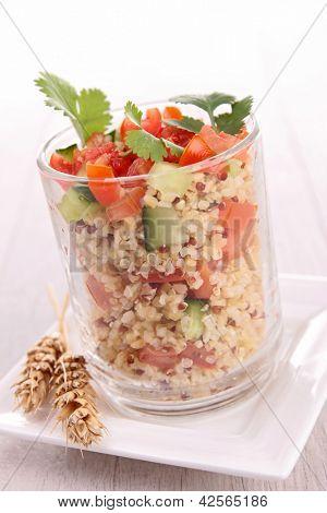 tabouleh, quinoa salad