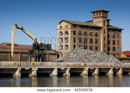 Industry In Bilbao, Bizkaia, Basque Country, Spain
