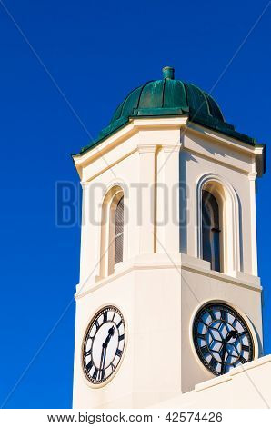 Clocktower Against A Blue Sky