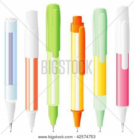 Six Isolated Pens
