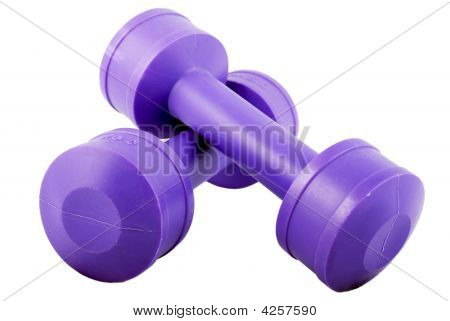 Two Purple Dumbbells 2 Kilo Each