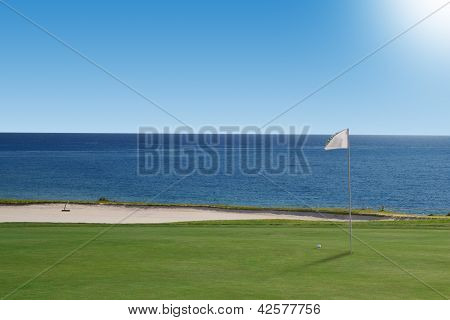 Golf Course On The Ocean. Portugal.