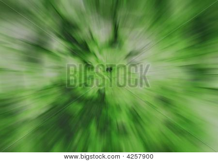 Grüne Radial Zoom