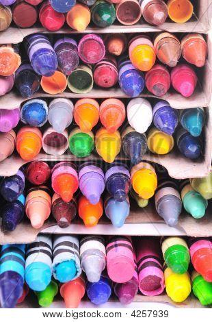 Stacks Of Crayons