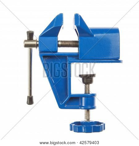 Hand Grip- Vise Small, Closeup, On A White Background.