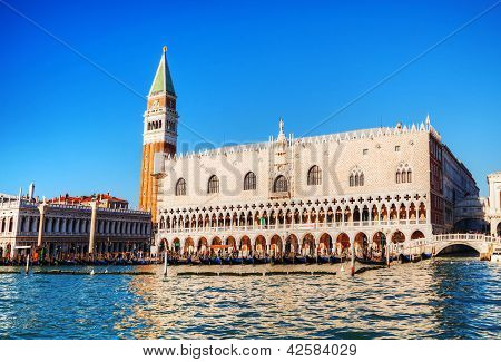 San Marko Square In Venice As Seen From The Lagoon