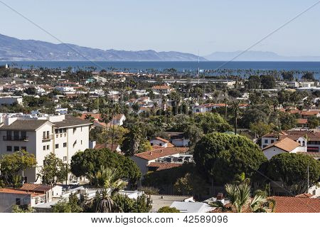 Clear afternoon view of Santa Barbara, California.