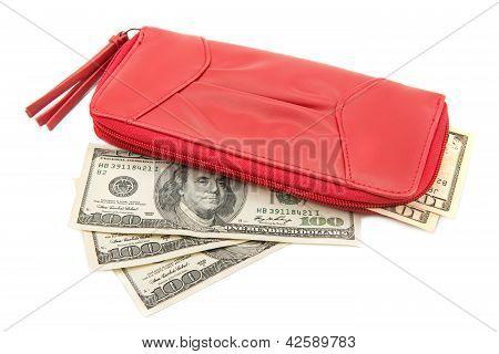 Wallet With Dollar Bills