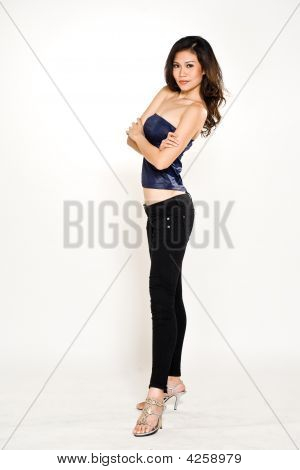 Asian Young Woman Tall And Slim