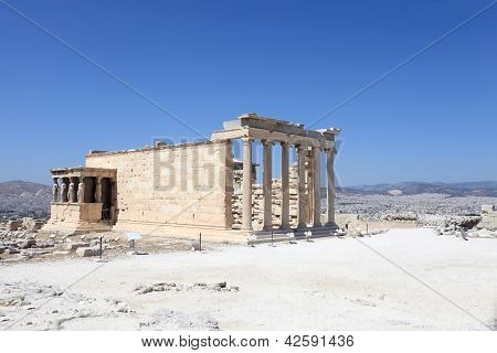 Side Of Erechtheum Greek Temple